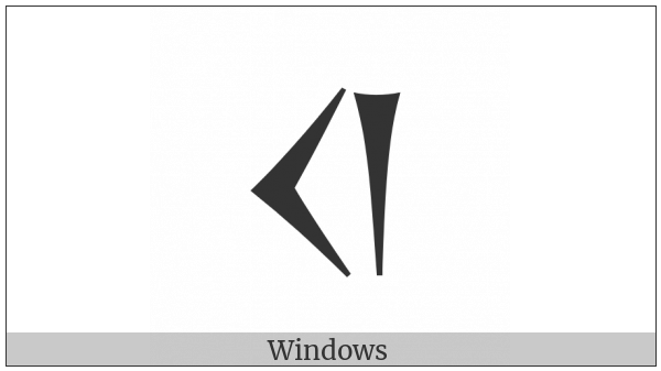 Old Persian Sign Ku on various operating systems