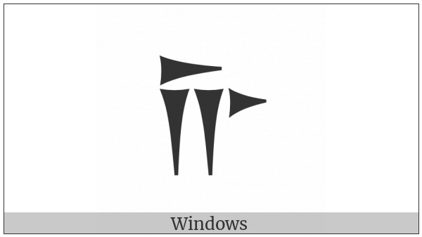 Old Persian Sign Ca on various operating systems
