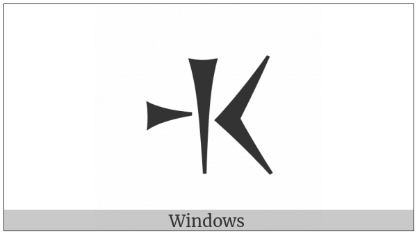 Old Persian Sign Ja on various operating systems
