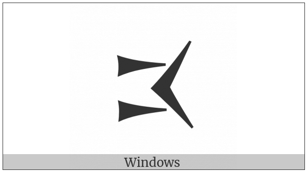 Old Persian Sign Na on various operating systems