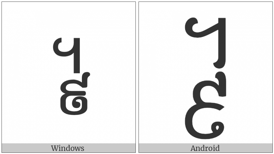 Khmer Symbol Pram-Buon Roc on various operating systems