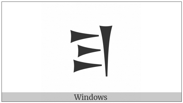 Old Persian Sign Ra on various operating systems