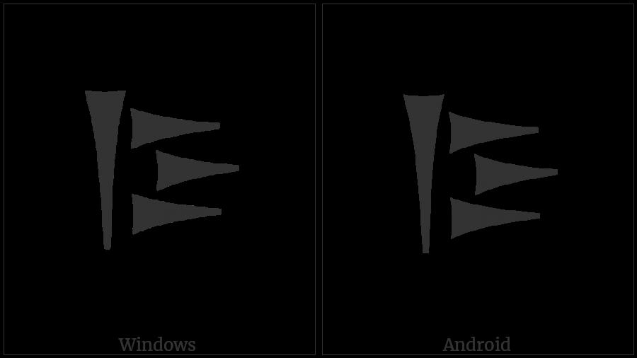 Old Persian Sign Sa on various operating systems