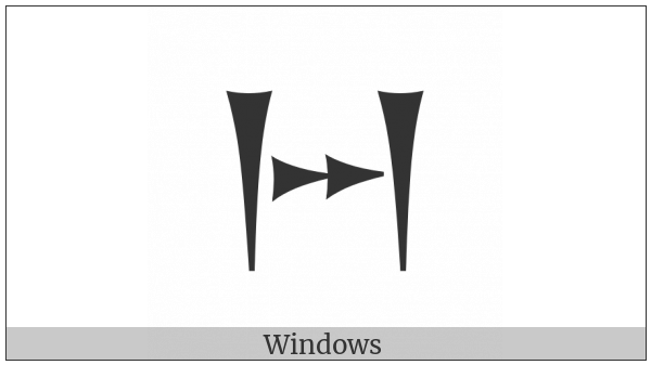 Old Persian Sign Za on various operating systems