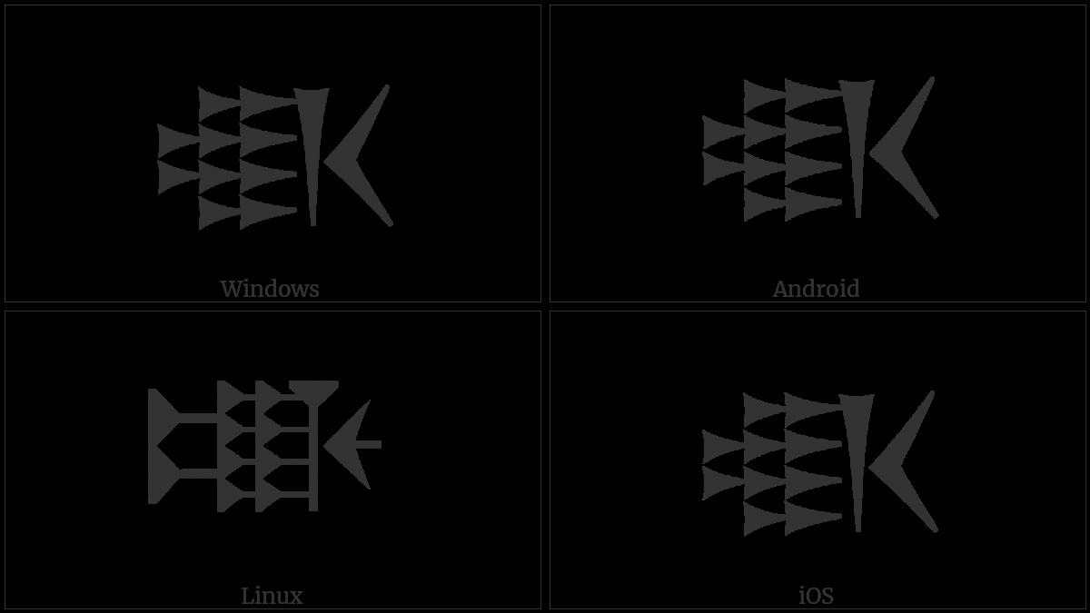 Old Persian Sign Auramazdaaha on various operating systems