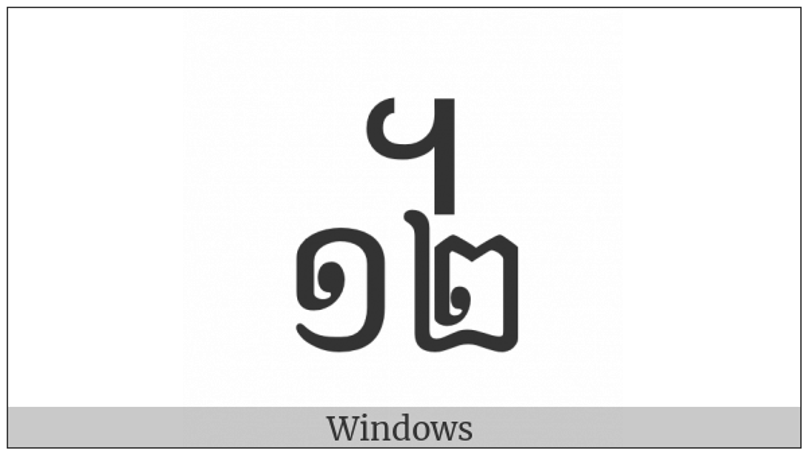 Khmer Symbol Dap-Pii Roc on various operating systems
