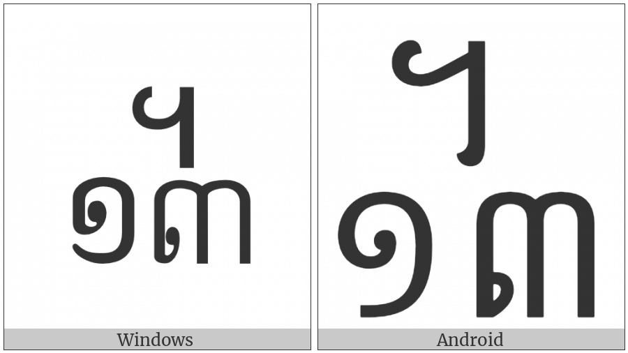 Khmer Symbol Dap-Bei Roc on various operating systems