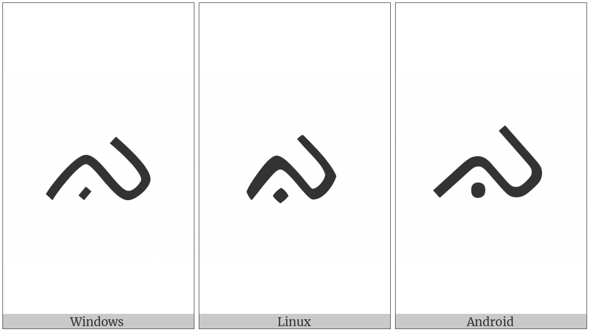 Buginese Letter Ga on various operating systems