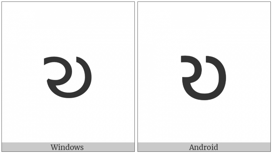 Shavian Letter Or on various operating systems