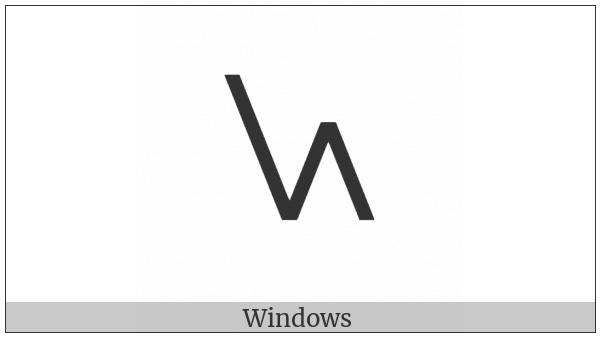 Shavian Letter Yew on various operating systems
