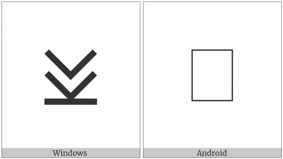 Cypriot Syllable O on various operating systems