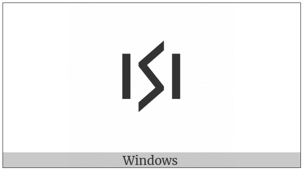 Cypriot Syllable Ne on various operating systems