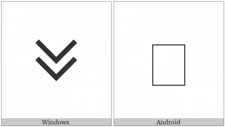 Cypriot Syllable Pi on various operating systems
