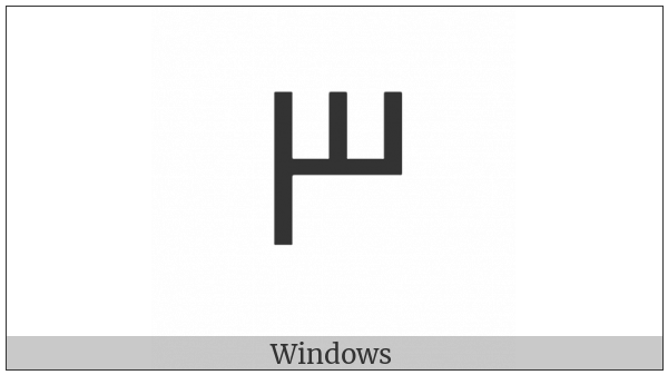 Cypriot Syllable Se on various operating systems
