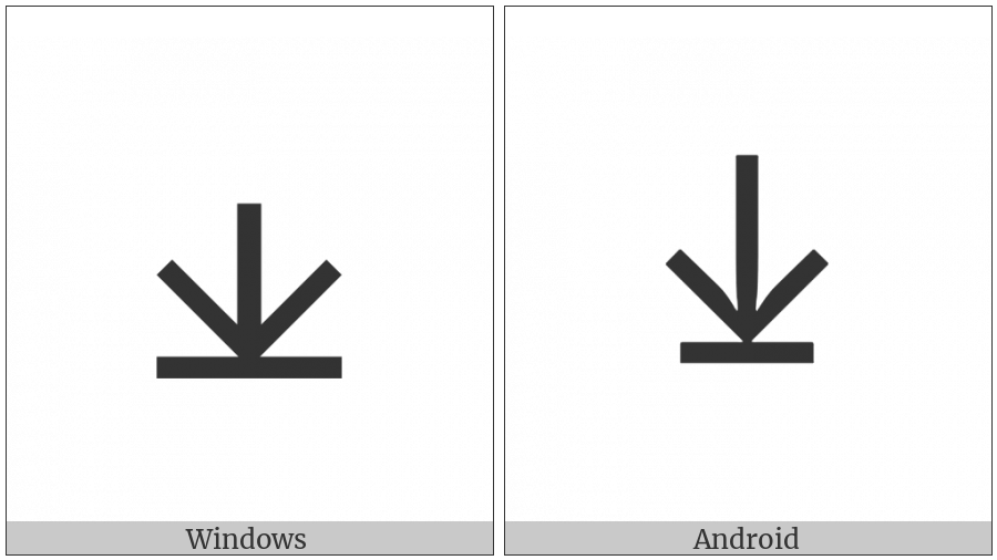Cypriot Syllable Te on various operating systems