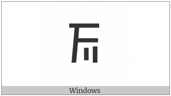 Cypriot Syllable Tu on various operating systems