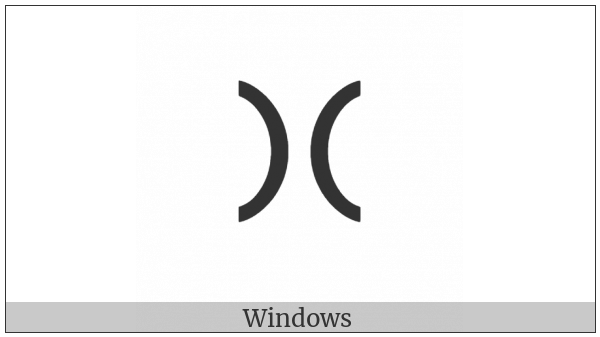 Cypriot Syllable Xa on various operating systems