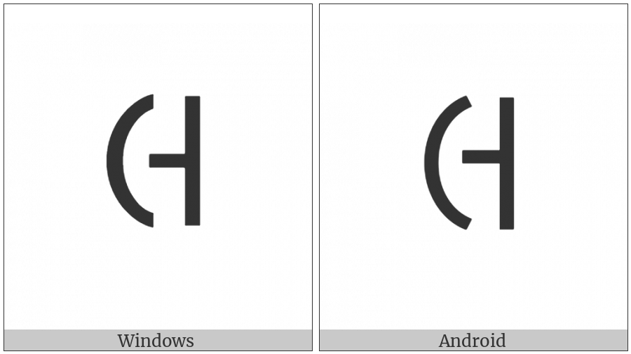Cypriot Syllable Xe on various operating systems