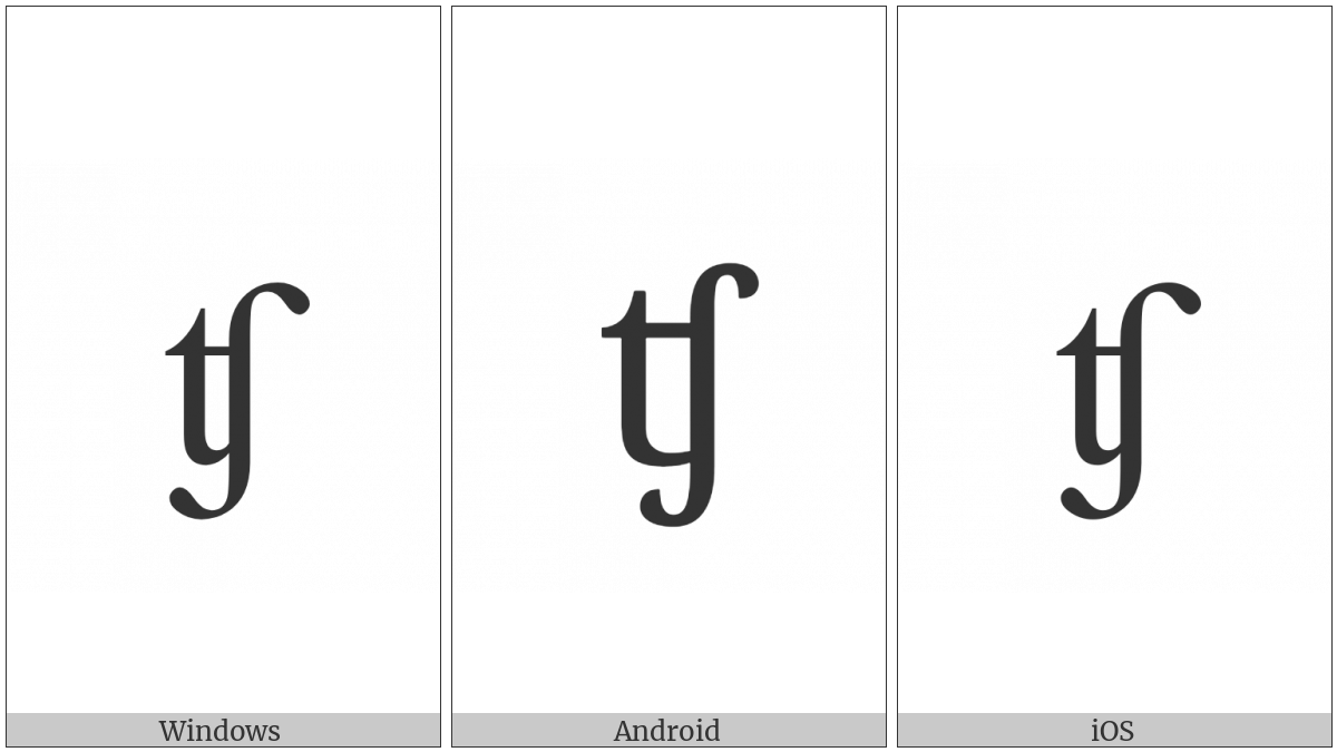 LATIN SMALL LETTER TESH DIGRAPH utf-8 character