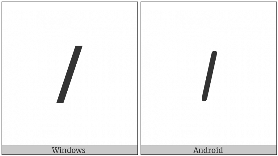 Meroitic Cursive Letter O on various operating systems