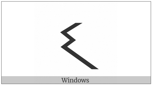 Meroitic Cursive Letter Pa on various operating systems