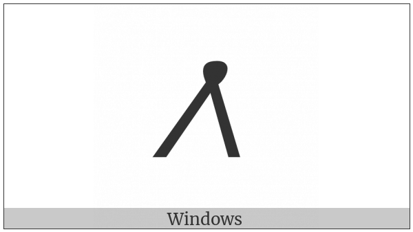 Meroitic Cursive Letter Ne on various operating systems