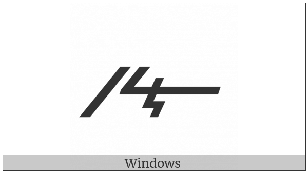 Meroitic Cursive Letter Te on various operating systems