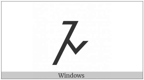 Meroitic Cursive Letter Da on various operating systems