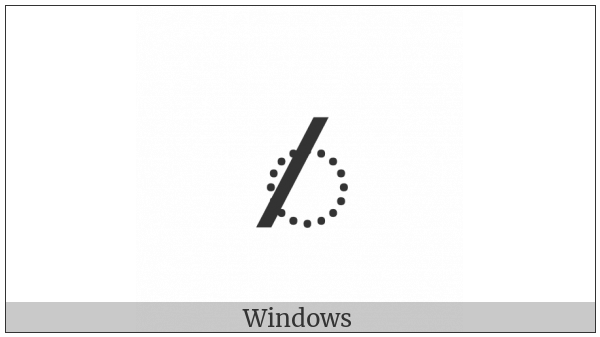 Kharoshthi Vowel Sign I on various operating systems