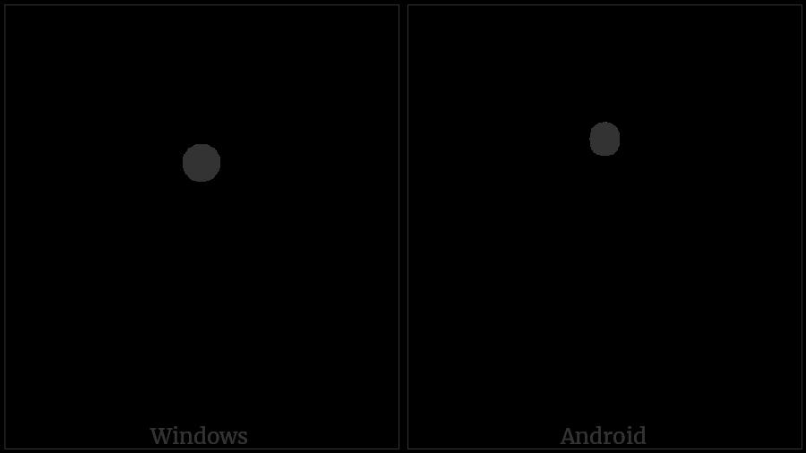 Kharoshthi Punctuation Dot on various operating systems
