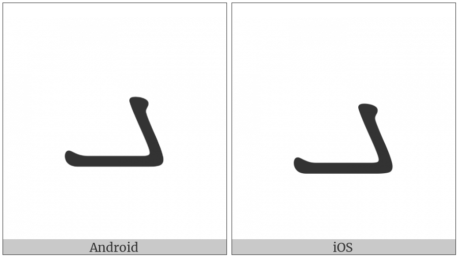 Manichaean Letter Dhamedh on various operating systems