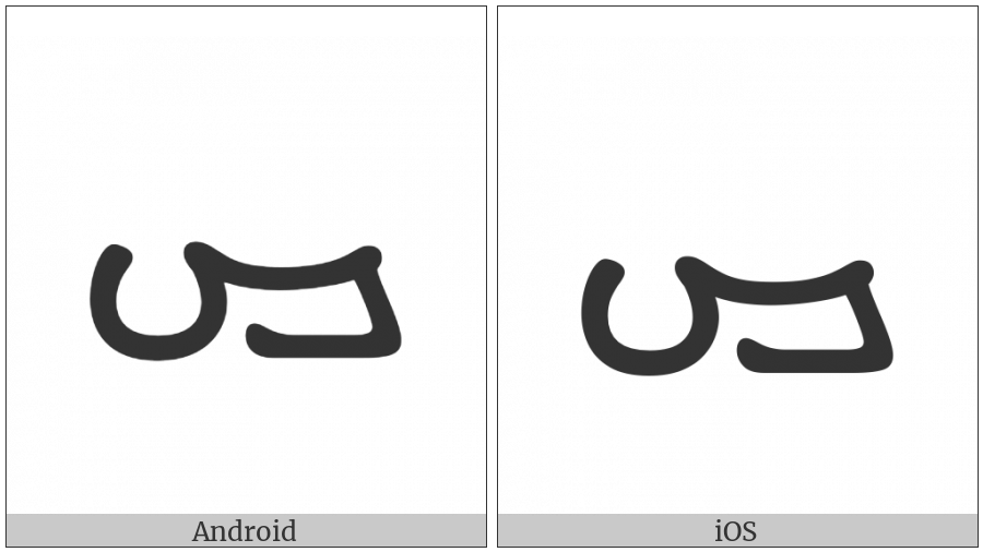 Manichaean Letter Qoph on various operating systems
