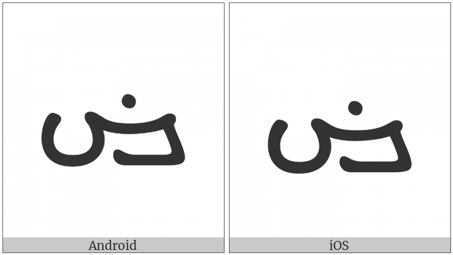 Manichaean Letter Xoph on various operating systems
