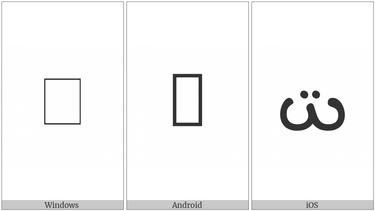 Manichaean Letter Sshin on various operating systems