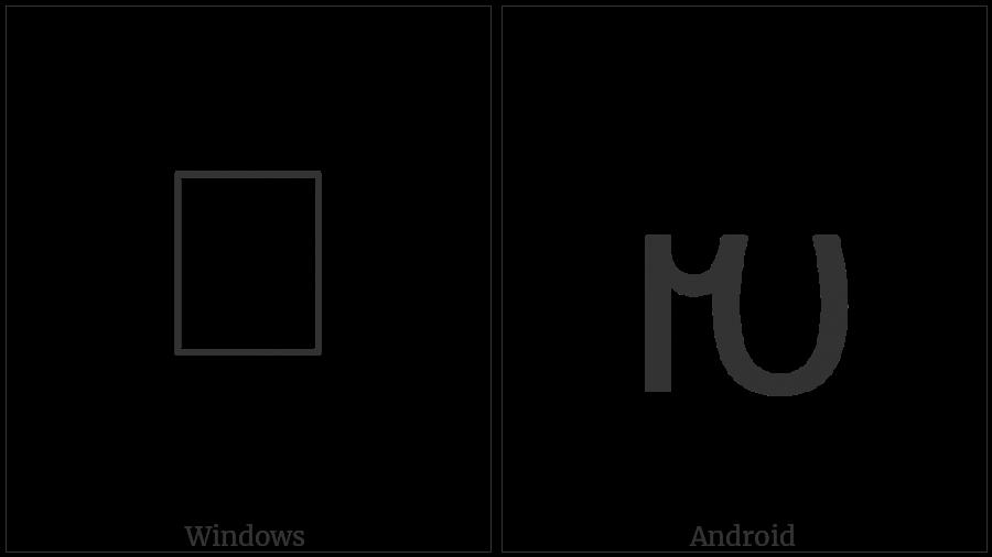 Avestan Letter E on various operating systems