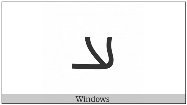 Inscriptional Parthian Letter Aleph on various operating systems