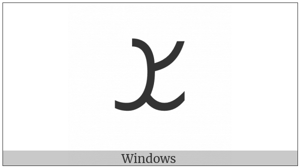 Inscriptional Parthian Letter Shin on various operating systems