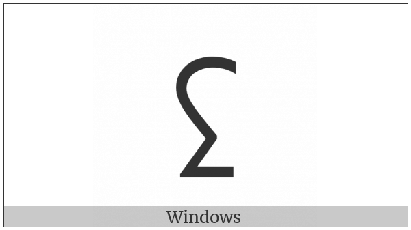 Inscriptional Pahlavi Letter Teth on various operating systems