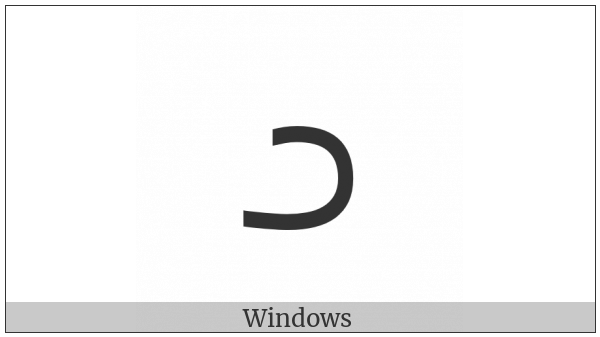Inscriptional Pahlavi Letter Yodh on various operating systems