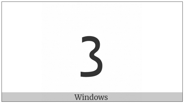 Inscriptional Pahlavi Number Twenty on various operating systems