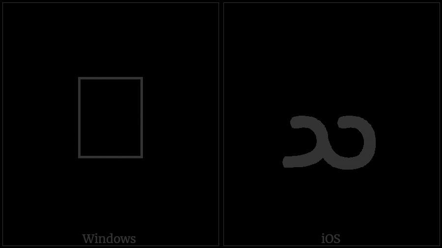 Psalter Pahlavi Letter Samekh on various operating systems