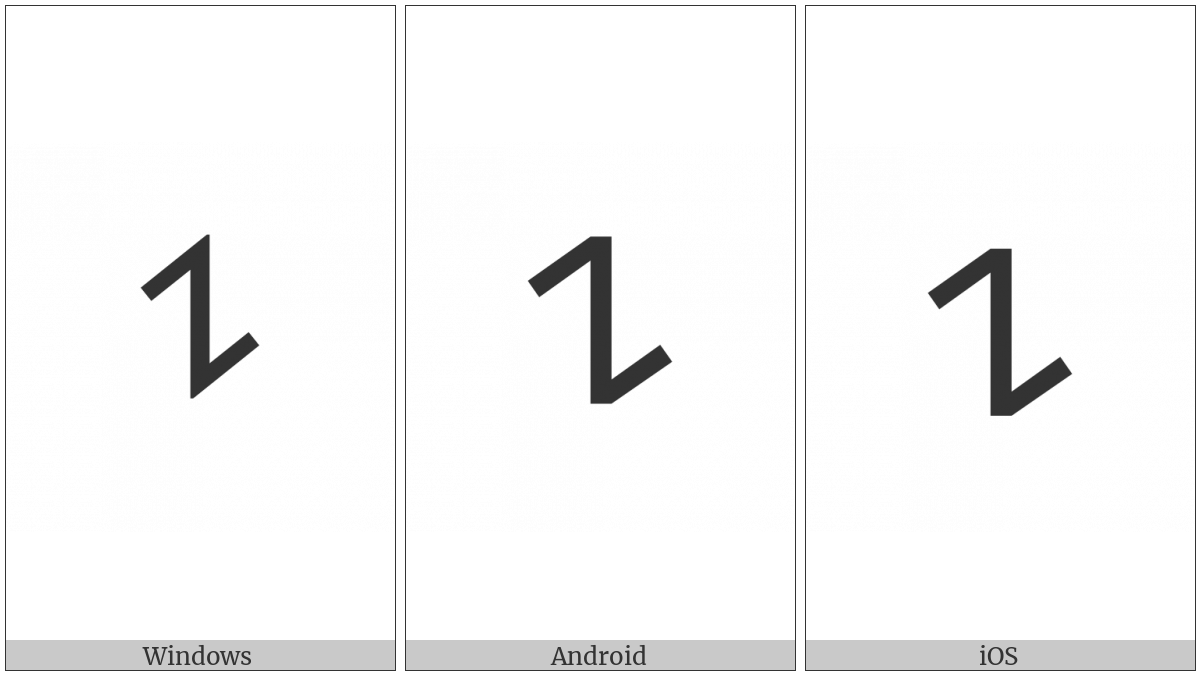 Old Turkic Letter Yenisei A on various operating systems