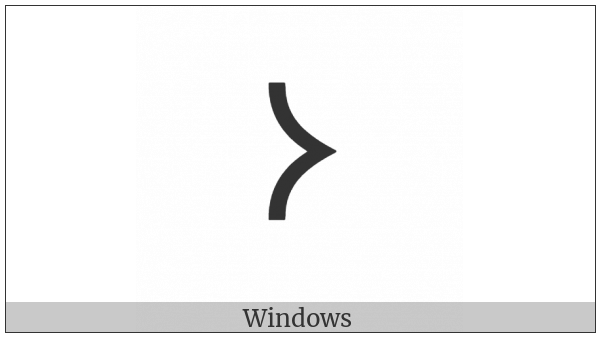Old Turkic Letter Orkhon O on various operating systems