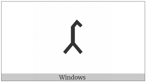 Old Turkic Letter Yenisei Aeg on various operating systems
