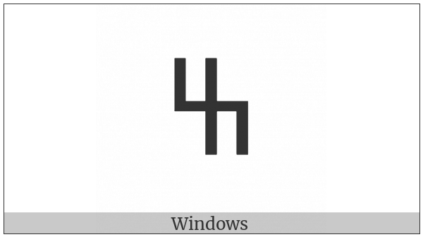 Old Turkic Letter Yenisei Ez on various operating systems