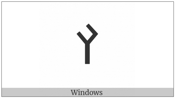 Old Turkic Letter Yenisei Aek on various operating systems