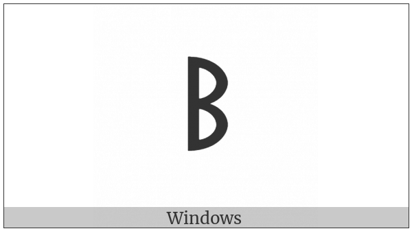 Old Turkic Letter Yenisei Oek on various operating systems
