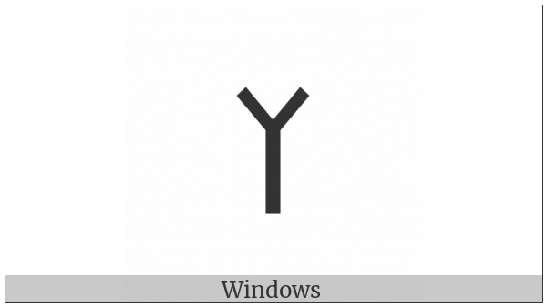 Old Turkic Letter Orkhon Ael on various operating systems