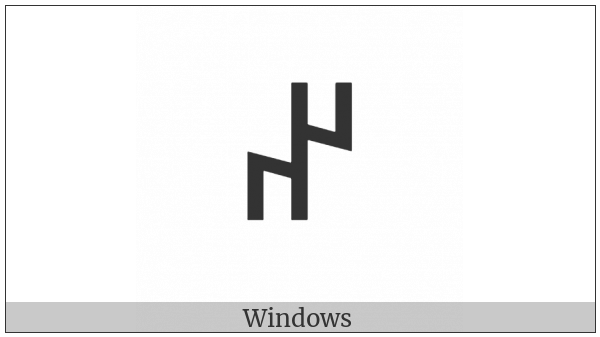 Old Turkic Letter Orkhon Aen on various operating systems