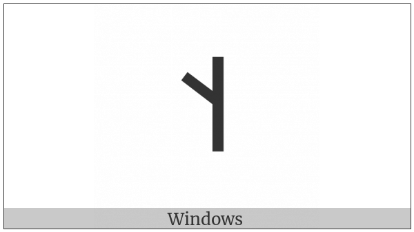 Old Turkic Letter Orkhon Eng on various operating systems